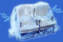 Keep furniture safe inside a VAC-BAG.